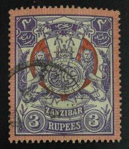 MOMEN: ZANZIBAR SG #222 1904 USED £95 LOT #63584