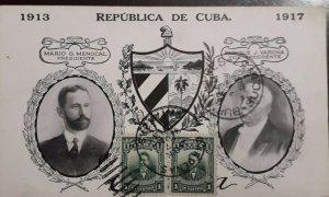 O) 1917 MARIO G. MENOCAL, ENRIQUE J. VARONA, BARTOLOME MASO  - SC 239 1c, XF