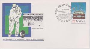 Norfolk Island 1982 Bounty Bowling Tournament PSE First Day Cover