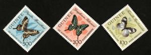 GUINEA #C47-49 BUTTERFLIES MINT NEVER HINGED MNH