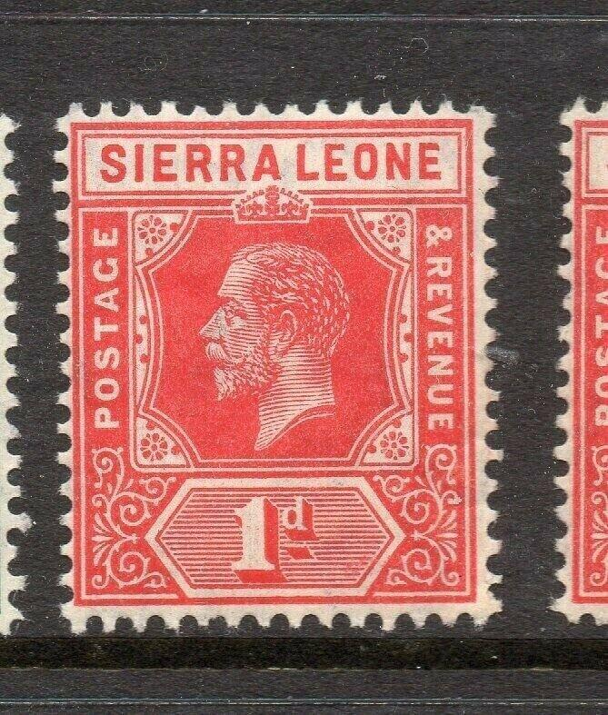 Sierra Leone 1912 Early Issue Fine Mint Hinged 1d. 303556