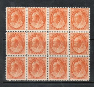 Canada #82 Mint Fine - Very Fine Never Hinged Rare Block Of Twelve *With Cert.*