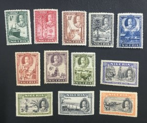 MOMEN: NIGERIA SG #34-45 1936 MINT OG H LOT #61434