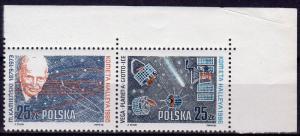 Poland 1986 Sc#2715a HALLEY'S COMET/MICHAL KAMIENSKI  pair  MNH