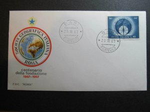9560 Italia 1967 Società Geografica Italiana Bari FDC