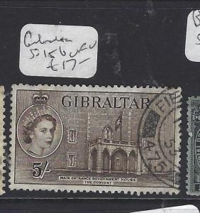 GIBRALTAR   (PP0410B)  QEII  5/-  SG 156   VFU