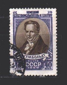 Soviet Union. 1959. 2220. Humboldt, geographer, traveler. USED.