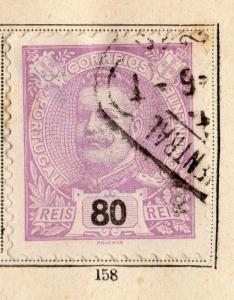 Portugal 1895 Early Issue Fine Used 80r. 095029