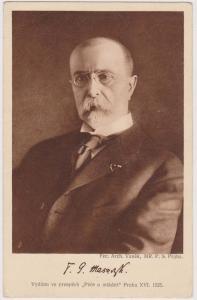 Czechoslovakia - 1929 Postcard with B&W photo of Pres. Masaryk