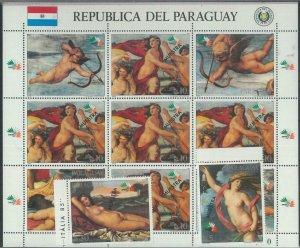 78580 - PARAGUAY - STAMPS:  art  RAFAELLO Raphael 1985   MNH - SPECIMEN