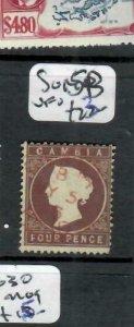 GAMBIA  (P2308BB) QV 4D  SG 15B   RED  CDS     VFU