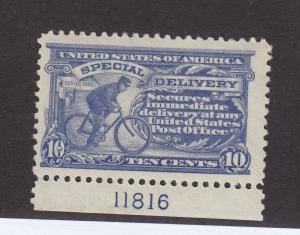 E11 VF original gum mint never hinged plate # nice color cv $ 45 ! see pic !