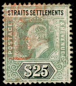 MALAYSIA - Straits Settlements SG139, $25 grey-green & black, USED.