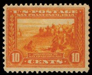 US Scott #400 - VF MNH - 10c San Fran Bay Pan-Pacific Expo  Orange Yellow - 1913