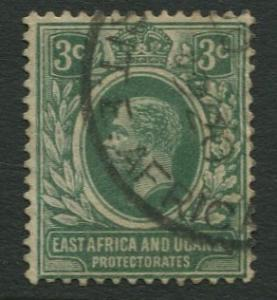 East Africa & Uganda - Scott 41 - KGV Definitive -1912 - Used -Single 3c Stamp