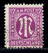 Germany AM Post Scott # 3N8, used, variation