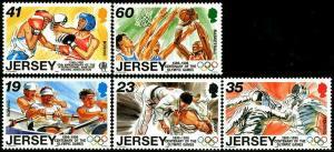 HERRICKSTAMP JERSEY Sc.# 755-59 1996 Sporting Anniversaries