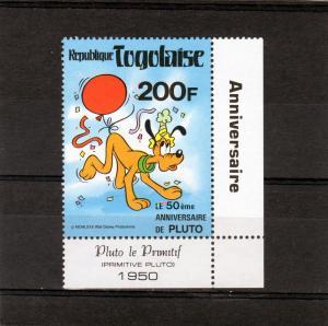 TOGO 1980 Pluto 50th.Ann.Disney (1) MNH Sc# 1070A