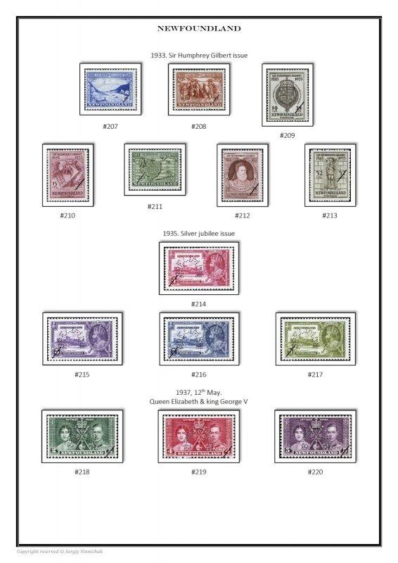 Provinces of  Canada 1851-1949 PDF(DIGITAL) STAMP ALBUM PAGES
