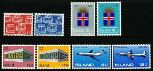 Iceland 1969 Cpl year set. Very good. MNH