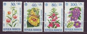 J22780 JLstamps 1965 indonesia set mh #b191-4 flowers