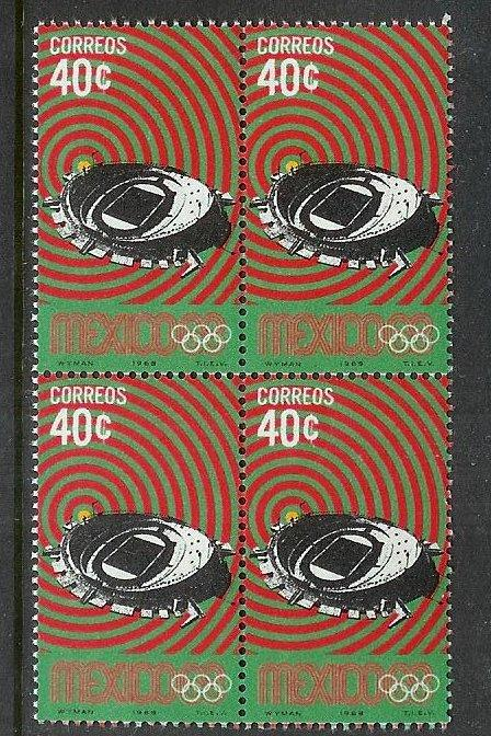 MEXICO Sc#997 Mint Never Hinged Block of 4