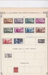french equatorial africa stamps ref 11111