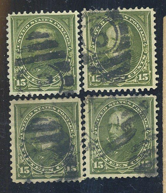 284 (4) Used F-VF Cat$52