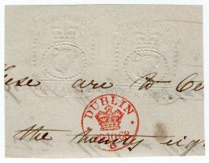 (I.B) George IV Revenue : Ireland Law Fund 8d (impressed duty)