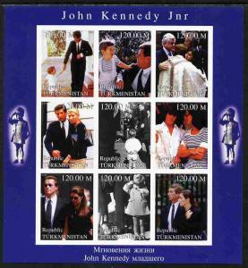 Turkmenistan 1999 John Kennedy Jnr #1 imperf sheetlet con...