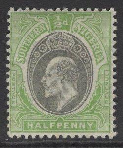SOUTHERN NIGERIA SG10 1903 ½d GREY-BLACK & PALE GREEN MTD MINT