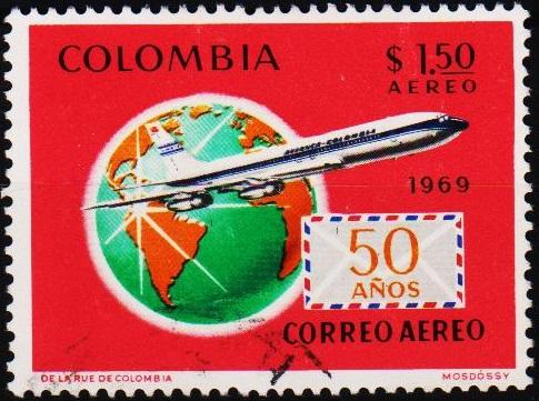 Colombia. 1969 1p50 S.G.1241 Fine Used