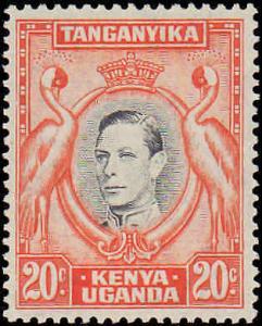 1938 Kenya, Uganda, Tanzania #74, Incomplete Set, Hinged