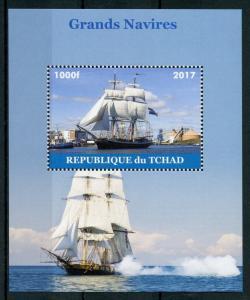 Chad Tall Ships Stamps 2017 MNH Sailing Sail Boats Nautical 1v M/S