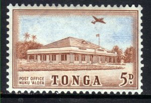 Tonga 1953 1 1/2d Brown & Blue Post Office Alofa Umm SG 107 ( J777 )