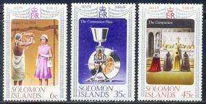 Solomon Islands MH 345-7 Silver Jubilee 1974