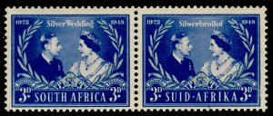 SOUTH AFRICA SG125, 3d blue & silver, LH MINT. RSW