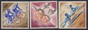 Guinea # C58-60, Sports, Orange Ovpt. Mint NH 1/2 Cat.