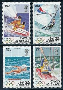 Belize Cayes - Los Angeles Olympic Games MNH Sports Set (1984)