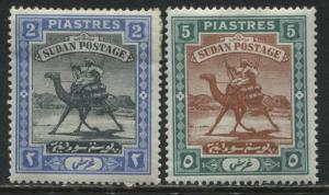 Sudan 1898 2 and 5 piastres mint o.g.
