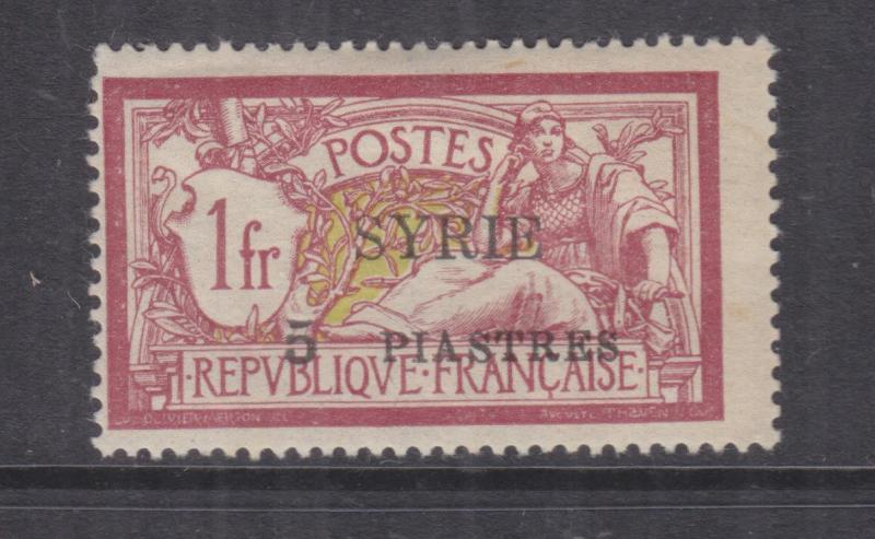 SYRIA, 1924 SYRIE 5pi. on 1f. Lake & Yellow, lhm.