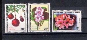 024845 BENIN FLOWERS set of 3 stamps MNH#24845