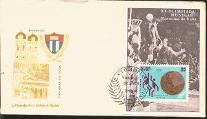 V) 1972 CARIBBEAN, XX SUMMER OLYMPICS, MUNICH, SIMULATED PERFORATIONS, SOUVENIR