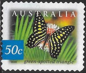 Australia 2168 Used - Flora & Fauna - ‭Green-Spotted Triangle Butterfly