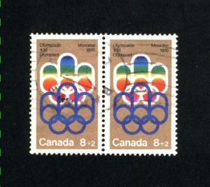 Canada #B1  used pair  1974 PD  .50