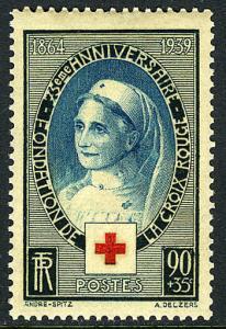 France B81, MNH. International Red Cross, 75th anniv. Nurse, 1939