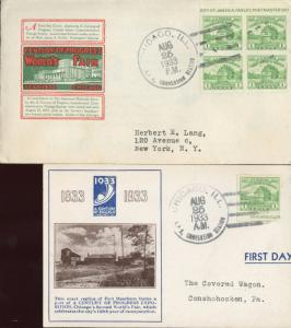 #730a-3 SET OF 2 IOOR FDC CACHET BN831