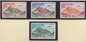 Andorra (French Administration) Stamps Scott #C5 To C8, Mint Never Hinged - F...
