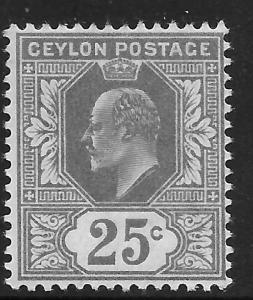 Sri Lanka 187 Mint Very LIght Hing King Edward VIII 1910 Issue