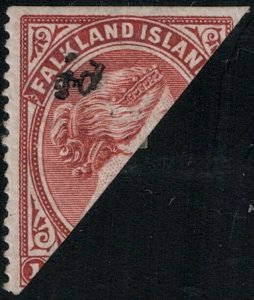 Falkland Islands SC 19E Mint 1891 SCV$ 825.00